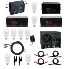 Four Batteries, All in one Inverter Package